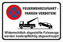 KE-Partyzubehör Aufkleber 45x30cm Parken verboten