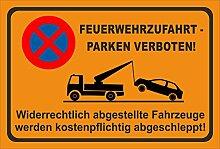 KE-Partyzubehör Aufkleber 60x40cm Parken verboten