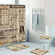 KEAINIDENI Badematte,Stilvolle Fond Info Vintage