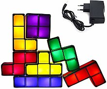 KEBY LED Nachtlicht Kreative Diy Tetris Licht led