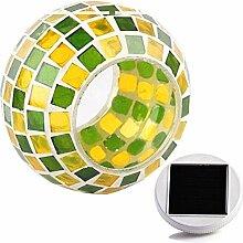 KEEDA Mosaik Solar Lampen Garten Lampen, RGB