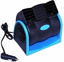 KeeKa 12V KFZ Auto Ventilator Lüfter Kühler mit 1M Zigarettenanzünder 180 Grad Drehbar (Ideal für Haustier)