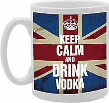 Keep Calm and Drink Vodka Funny Tasse Kaffee