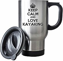 Keep Calm and Love Kayaking Thermobecher Edelstahl