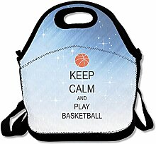 Keep Calm And Play Lunch Bag Adjustable Strap