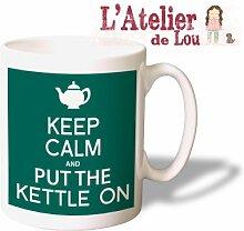 Keep Calm and Put the Kettle on mug keramisch Kaffeebecher - Originelle Geschenkidee - Spülmaschinefes