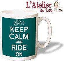 Keep Calm and Ride On mug keramisch Kaffeebecher - Originelle Geschenkidee - Spülmaschinefes