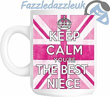 Keep Calm You're The Best Neice Pink Geschenkidee Tasse Union Jack