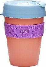 KeepCup Wiederverwendbarer Becher Thermobecher, plastik, aprikose, 12oz/340ml