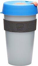 KeepCup Wiederverwendbarer Becher Thermobecher, plastik, asche, 16oz/454ml