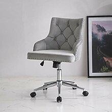 KEEPREAPER Grau Bürostuhl Samt Schreibtischstuhl
