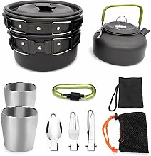 Kefaith Camping Kochgeschirr Mess Kit, Leichter