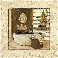Keilrahmen-Bild - Charlene Olson: Feng Shui Bath I