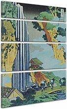 Keilrahmenbild Katsushika Hokusai ONO Wasserfall