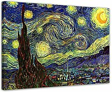 Keilrahmenbild Vincent Van Gogh Sternennacht -