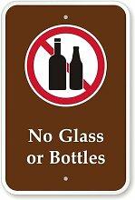 Kein Glas oder Flaschen (mit Graphic) Schild,