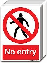 Kein Zutritt selbstklebend Vinyl Aufkleber Büro, Factory, Shop PROHIBITION Safety Signs, Selbstklebendes Vinyl, A4 210x297mm