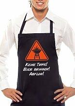 Keine Tipps! Bier bringen! Abflug! - Zweifarbig - Grillschürze Schwarz / Orange-Weiss