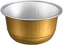 KEISEN Einwegbecher aus Aluminiumfolie, 150 ml,