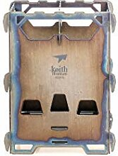 Keith Titanium Ti2201 Holzofen für Rucksackreisen