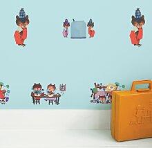 KEK Amsterdam Busy Bears Tapete Blau (l) 280.00 X