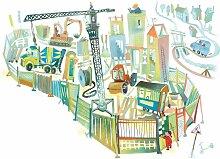 KEK Amsterdam Construction Site Tapete (8 Sheets)