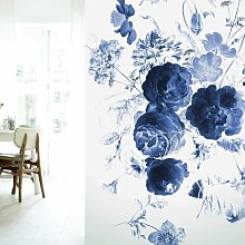KEK Amsterdam Royal Blue Flowers I Tapete
