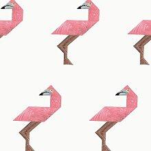 KEK Amsterdam Tangram Tapete Flamingo (l) 280 X