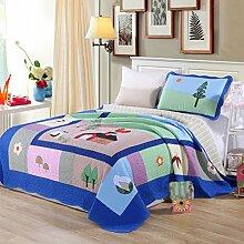 KekeHouse 100% Baumwolle Kinder Überwurf Decke