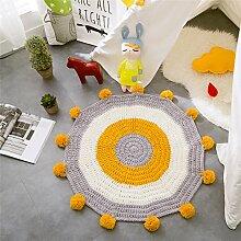 KekeHouse Baumwolle Gestrickt Baby Teppich Matte