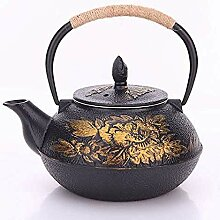 KEKEYANG Kaffee-Tee-Sets, Teekannen Gusseisen