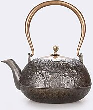 KEKEYANG Kaffee Tee Sets Teekannen Gusseisen