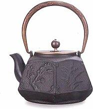 KEKEYANG Kaffee-Teekannen Teesets Gusseisen