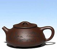KEKEYANG Teekanne aus Ton, 240 ml, handbemalt,
