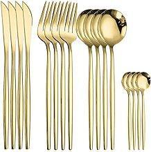 Kekkein Küche Geschirr Goldbesteck Set Edelstahl