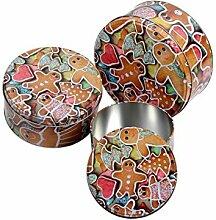 Keksdose 3er Set Blechdose Aufbewahrung Vorratsdose Metall Gebäckdose von Alsino, Variante wählen:946229 Pfefferkuchenmann