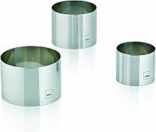 Kela 10785 Dessertring-Set, 3 Ringe, 6/ 7,5/ 9 cm