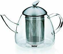 Kela 16940 Teekanne aus Glas mit