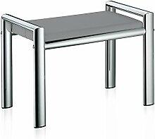 Kela 21983 Sitzhocker, Metall, 66,5 x 38,5 x 48,5 cm, Lunis, Hellgrau