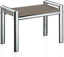 Kela 21984 Sitzhocker, Metall, 66,5 x 38,5 x 48,5 cm, Lunis, Taupe