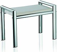 Kela 21986 Sitzhocker, Metall, 66,5 x 38,5 x 48,5 cm, Lunis, Weiß