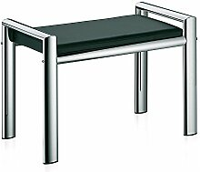 Kela 21987 Sitzhocker, Metall, 66,5 x 38,5 x 48,5 cm, Lunis, Schwarz