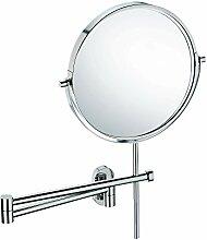 Kela 22679, Wand-Kosmetik-Spiegel, Zum Kleben oder Bohren, Ausziehbar, 1-/3-fach Vergrößerung, Lucido