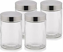 Kela 390170 Vorratsdosen-Set, 4-teilig, Glas mit