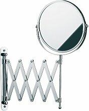 Kela 49288 Wand-Kosmetik-Spiegel, Zum Schrauben, Ausziehbar, 1-/3-fach Vergrößerung, Ø 18,5cm, Kleopatra