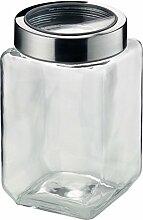 KELA Vorratsdose Glas / Edelstahl SIRO L 1,5 Liter, grau