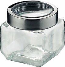 KELA Vorratsdose Glas / Edelstahl SIRO S 0,75 Liter, grau