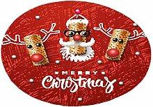 Keland HomeFun - Fußmatte Weihnachten Rund 40 x