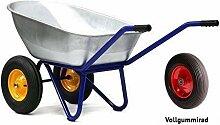 Kelberg 2-Rad Schubkarre mit PU Vollgummiräder