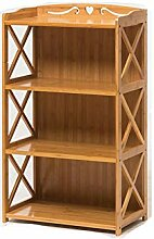 KELE Einfache Bambus Bücherschrank, Lagerregal